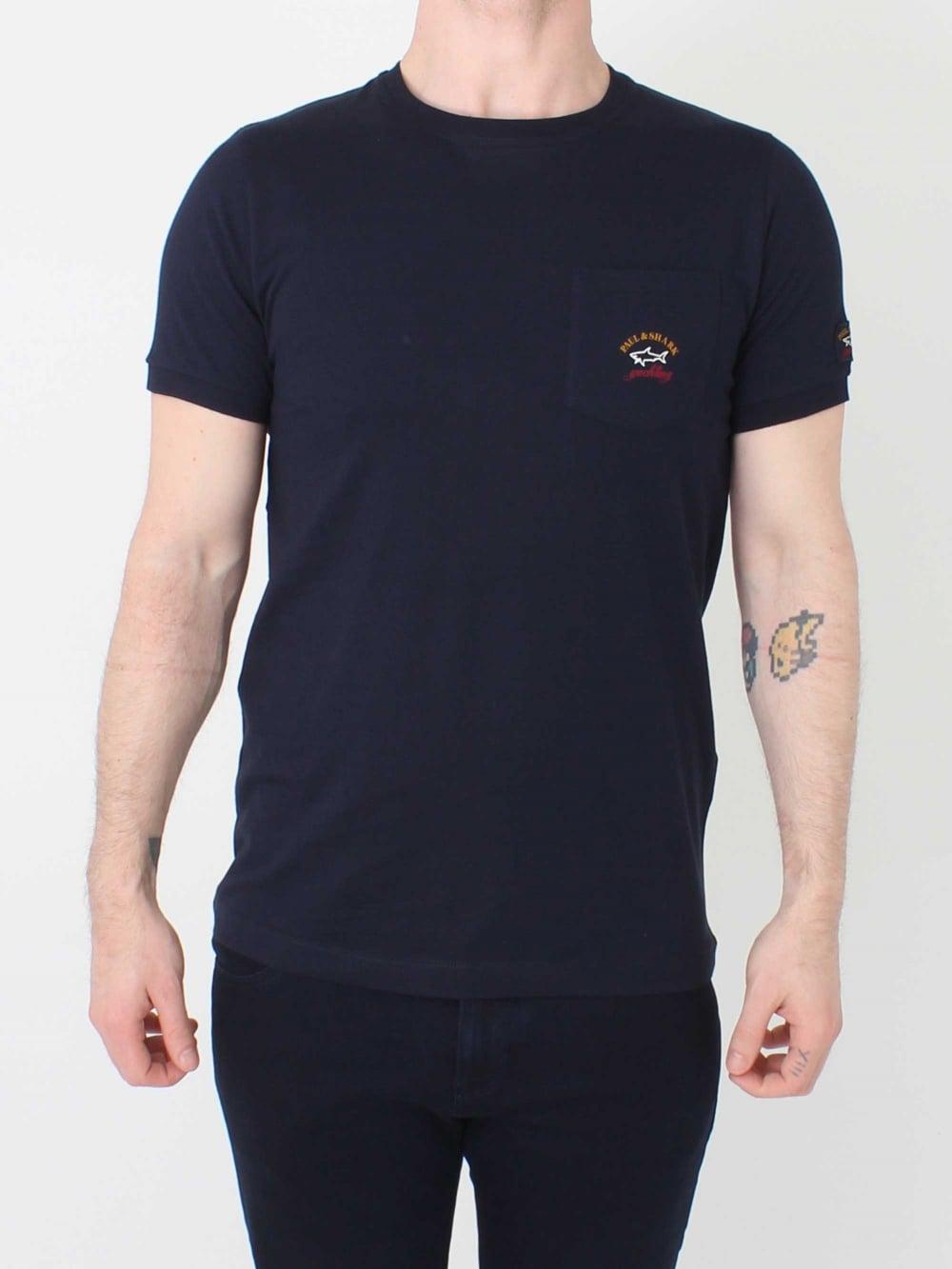 paul shark t shirt in dark navy northern threads. Black Bedroom Furniture Sets. Home Design Ideas