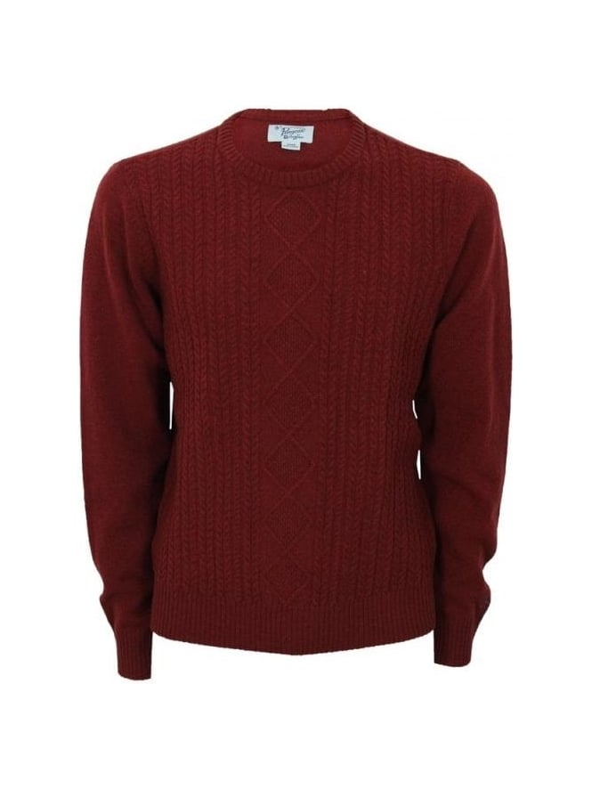 Penguin Dour Cable Crew Neck Knit - Rosewood