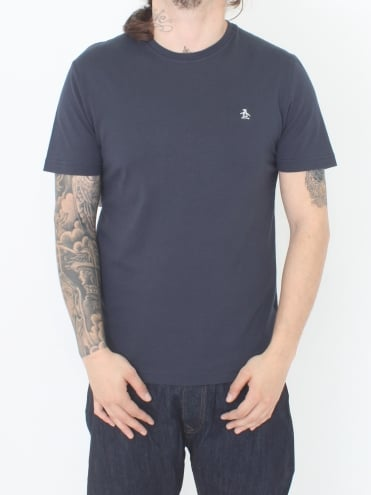 Pin Point Embroidery T.Shirt - Dark Sapphire