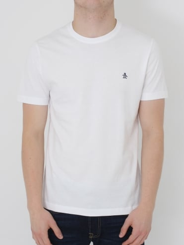 Pin Point Embroidery T.Shirt - White