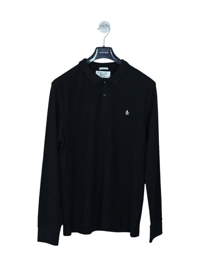 Penguin Winston Long Sleeve Polo - Black