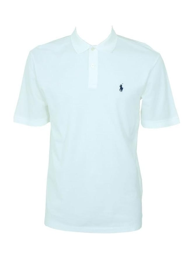 Ralph Lauren Pinpoint Mesh Pro Fit Polo - White