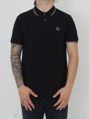 Barton Tipped Polo - Black