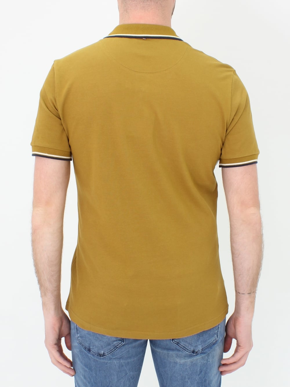 0ac5ca22622 Pretty Green Barton Tipped Polo in Mustard - Northern Threads