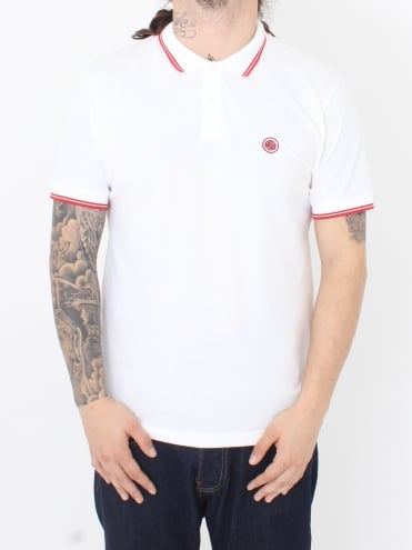 Barton Tipped Polo - White