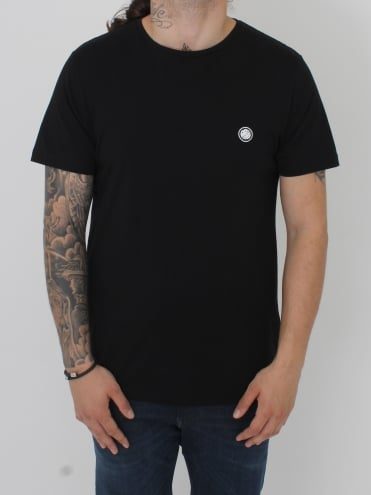 Basic Crew Neck Logo T.Shirt - Black