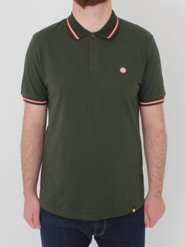 Bennett Tipped Polo - Dark Green
