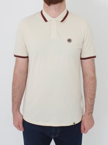 Bennett Tipped Polo - Stone