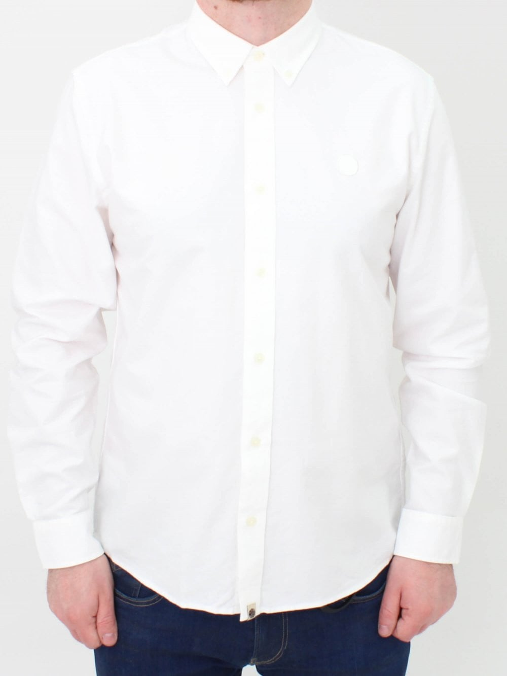 a4042fdeabb4 Pretty Green Classic Oxford Shirt in White | Northern Threads