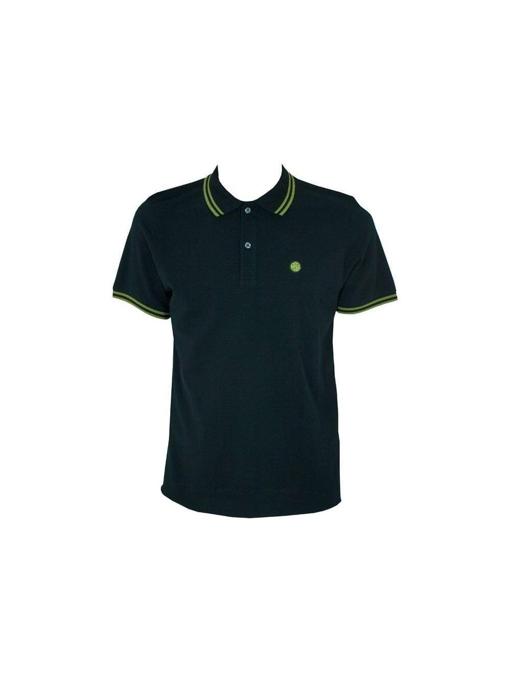 Pretty Green - Pretty Green Classic Tipped Polo Shirt - Black Lime ... 64fee16ce2a1
