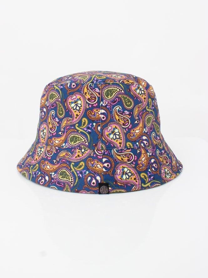 Pretty Green Cord Paisley Bucket Hat in Khaki  f1acf7ad678