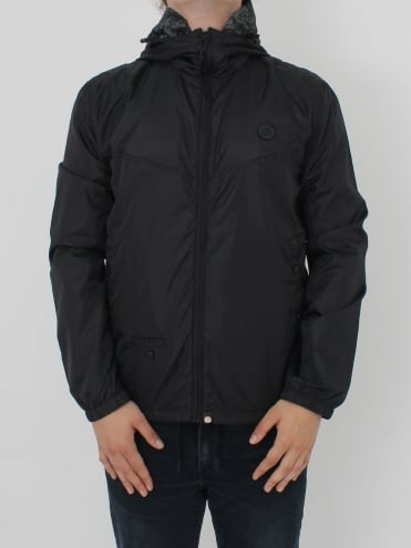 Darley Zip Up Hooded Jacket - Black