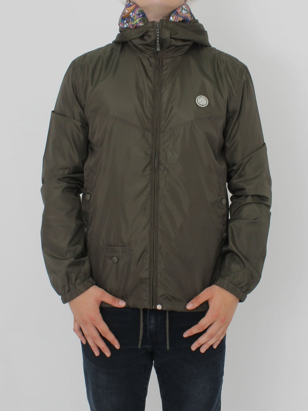 9908e8a5dcb Pretty Green Darley Zip Up Hooded Jacket in Khaki - Northern Threads