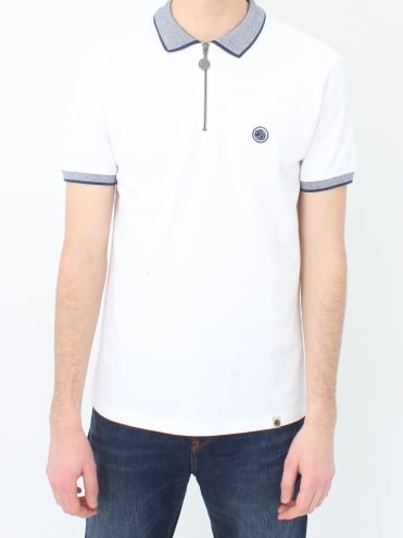 Holcombe Zip Neck - White