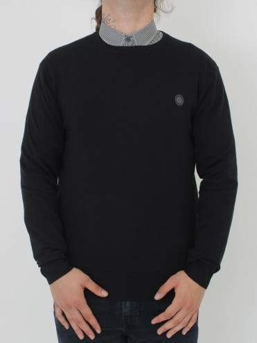 Hunchcliffe Crew Neck Knit - Black