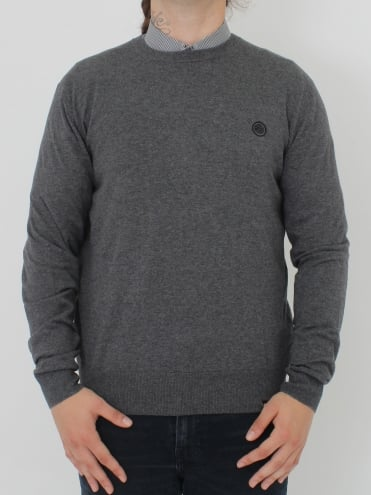 Hunchcliffe Crew Neck Knit - Dark Grey
