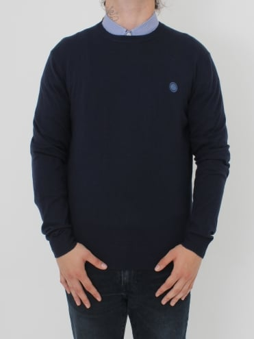 Hunchcliffe Crew Neck Knit - Navy