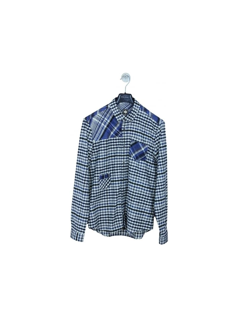 f8385984a99 Pretty Green Kidnall Check Shirt in Navy - Northern Threads
