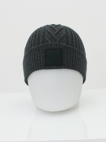 Knitted Beanie - Moss