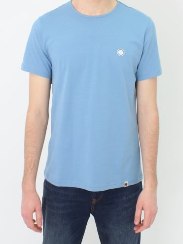 Mitchell Cotton T.Shirt - Mid Blue