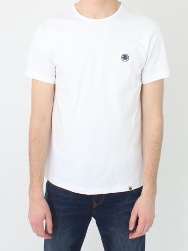 Mitchell Cotton T.Shirt - White/Navy