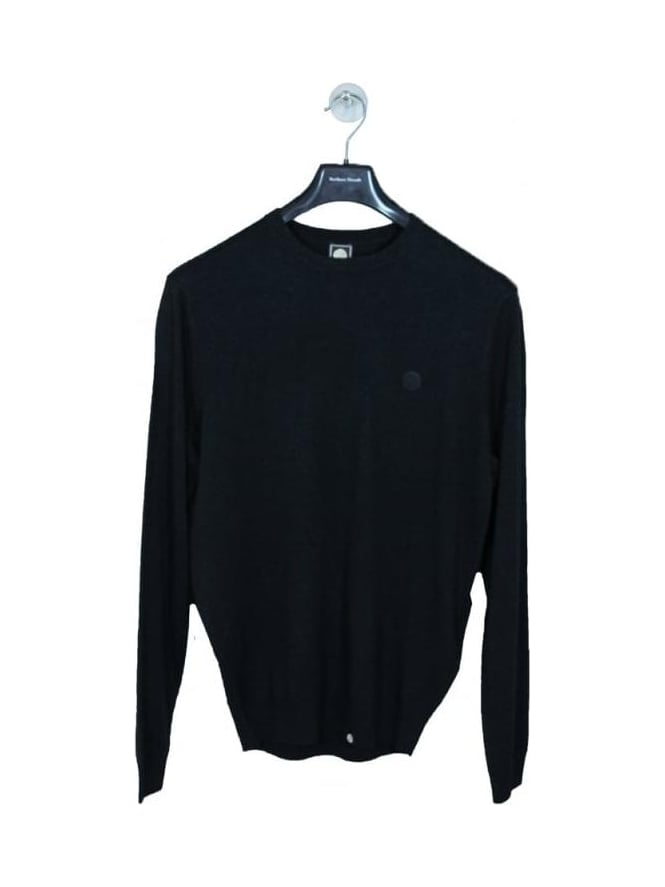 Pretty Green Mosley Crew Neck Knit - Charcoal