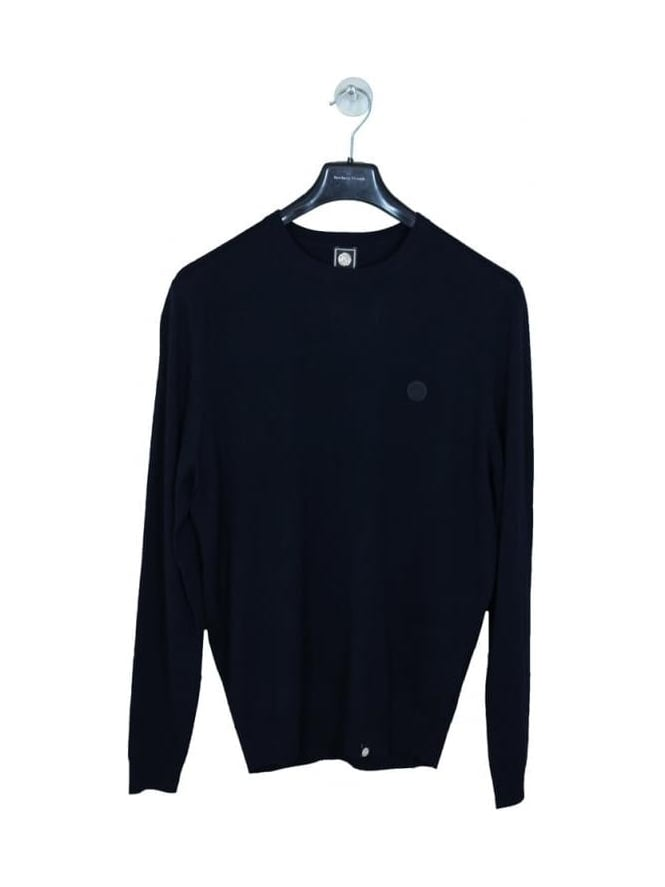 Pretty Green Mosley Crew Neck Knit - Navy