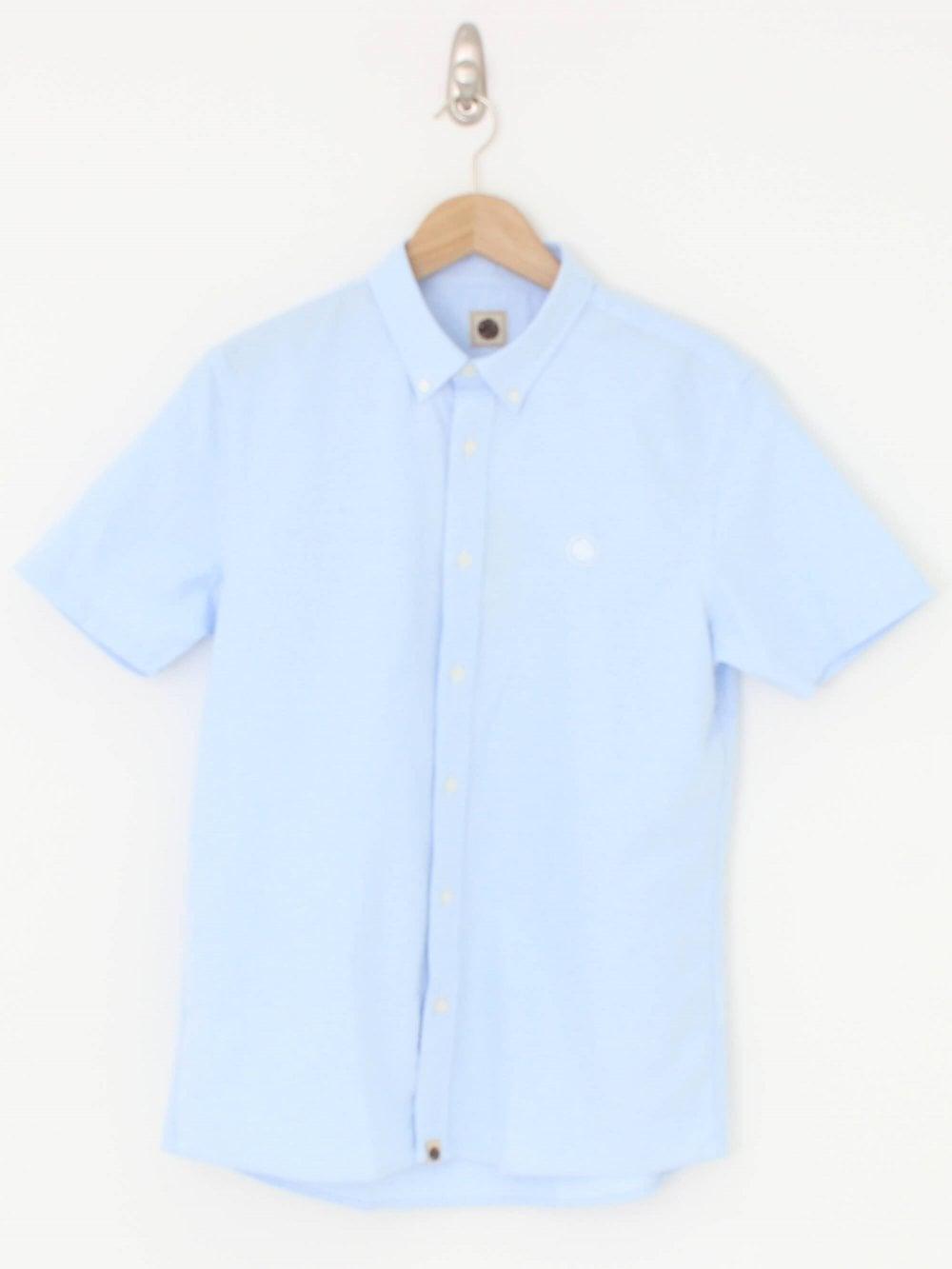 968f0691f706 Pretty Green Oxford Shirt in Blue Light | Northern Threads