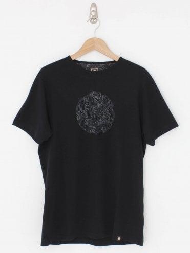 13e07a30d Paisley Print Logo T.Shirt - Black 20%. Pretty Green ...