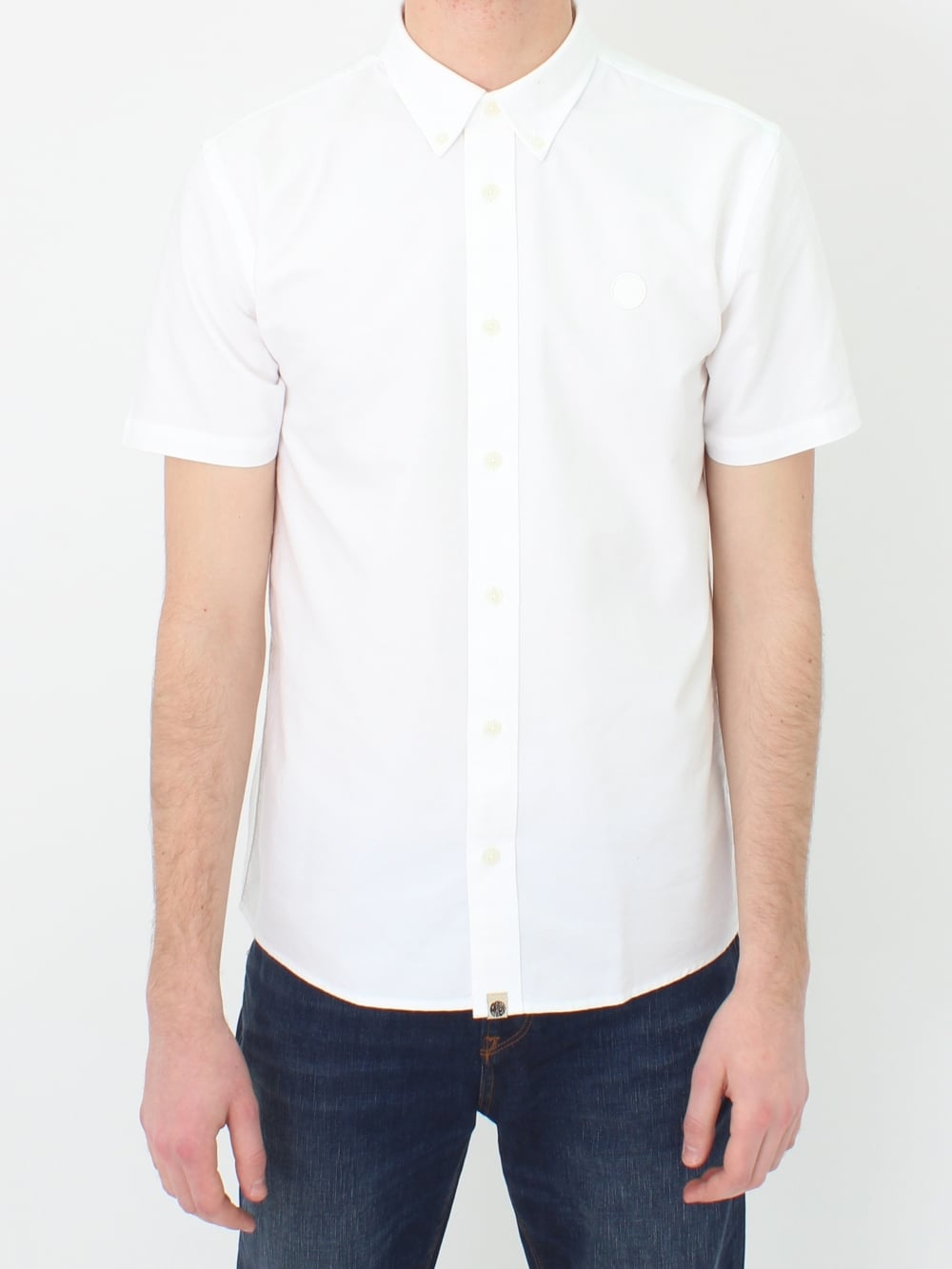 6f41747f0d7a Pretty Green Stirling Oxford Shirt in White | Northern Threads