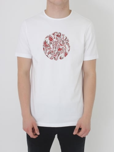 Thornley Paisley Logo T.Shirt - White