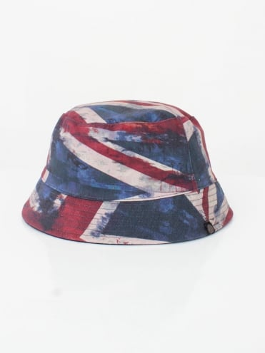 Union Jack Bucket Hat - Navy