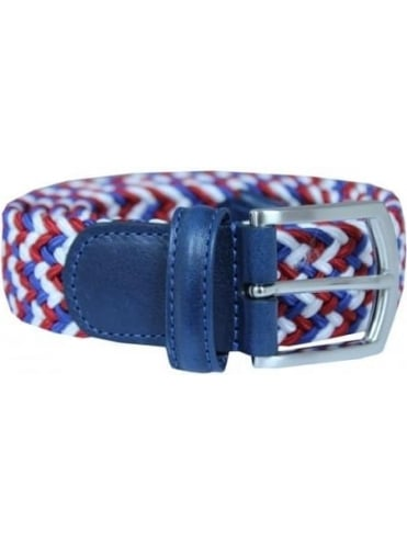 Woven Textile Belt - Red And Blue
