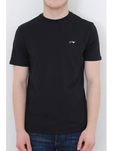 Basic Logo Crew Neck T.Shirt - Navy