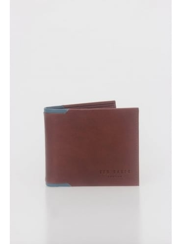 Sidd Contrast Billfold Wallet - Tan