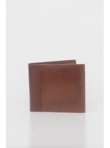Splitz Contrast Spine Wallet - Tan