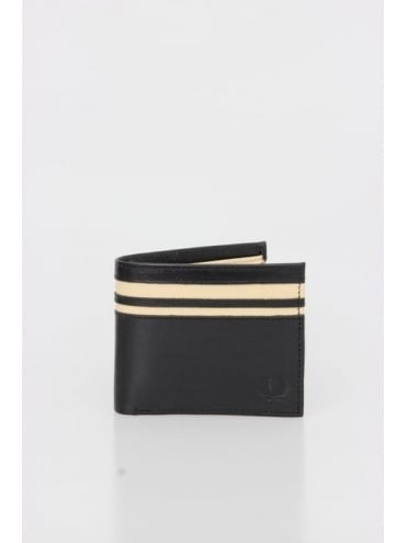 Cut And Sew Coin Wallet - Black