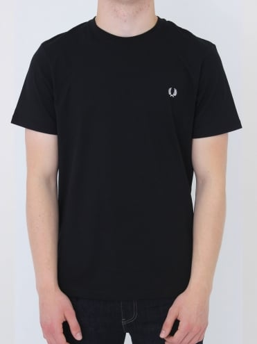 Fred Perry Crew Neck Logo T.Shirt - Black
