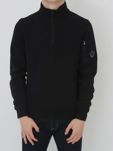 Arm Lens Half Zip Sweat - Caviar