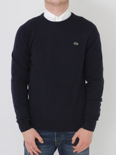 Lambswool Crew Neck Knit - Navy