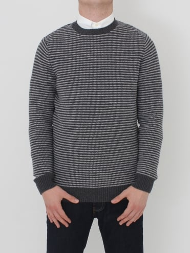 Brig Crew Neck Knit - Charcoal