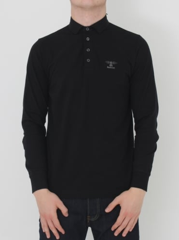 Standards Long Sleeve Polo - Black