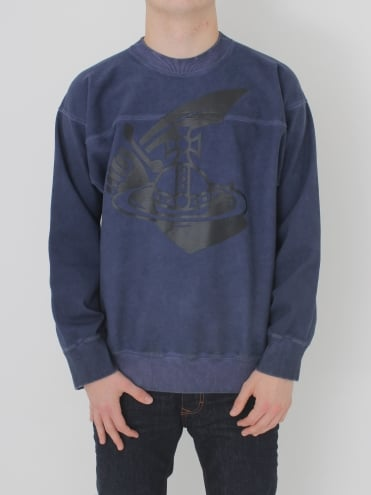 Arm & Cut Sweatshirt - Navy