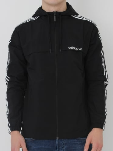 3 Striped Windbreaker - Black