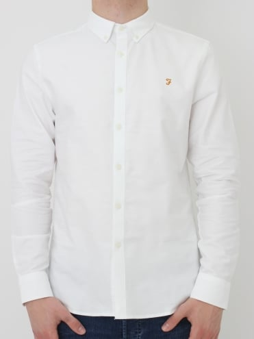 Brewer Slim Long Sleeve Shirt - White