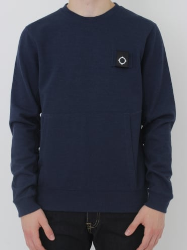 U-Boat Crew Neck Sweat - Dress Blue