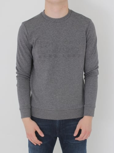 - BOSS Green Salbo Sweat - Medium Grey