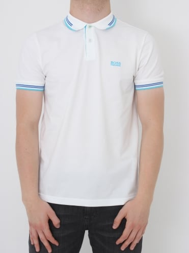 - BOSS Green Paul Slim Fit Tipped Polo - Natural