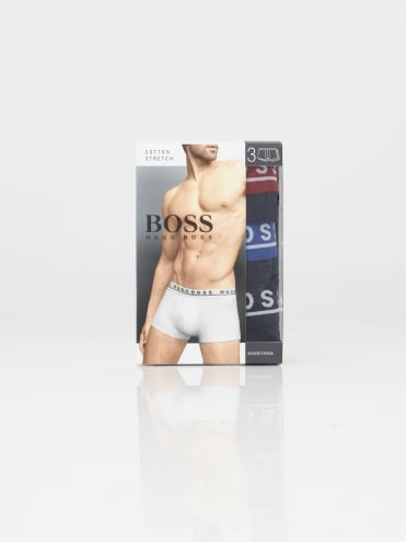 - BOSS Hugo Boss 3 Pack Boxer Shorts - Multi