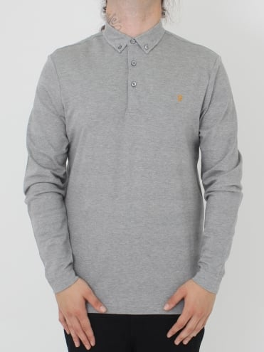Stapleton L/Sleeve Polo - Silver